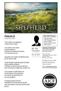 10.26.2014 - Psalm 23 - The Lord is My Shepherd (Rev. Ahn Choongsik)