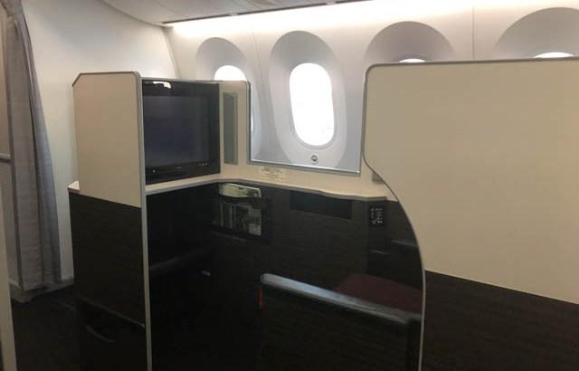JAL 787-9 ビジネスクラス