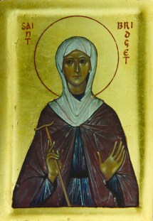 St Bridget Figure - Aidan Hart Sacred Icons