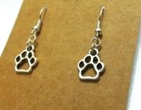 Paw Print Dangle Earrings
