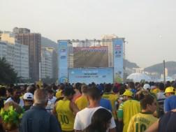 Rio de Janeiro - Brazil. Fifa Fan Fest for World Cup 2014. Incredible atmosphere right on Copacabana beach