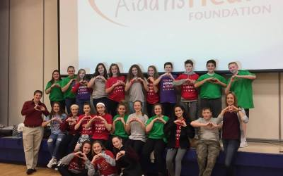 Agents of Change Students at Marsh Creek Sixth Grade Center Join with AHF