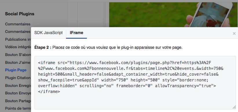 Afficher une page Facebook dans WordPress