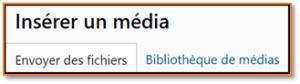 Insérer un média dans une page WordPress