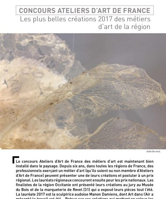 Article dans « Art dans l'air »