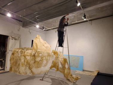 installation par Tsuguo Yanai