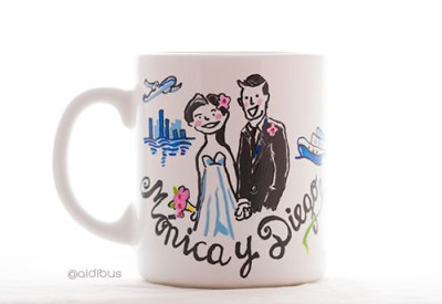 taza personalizada, recuerdo de boda