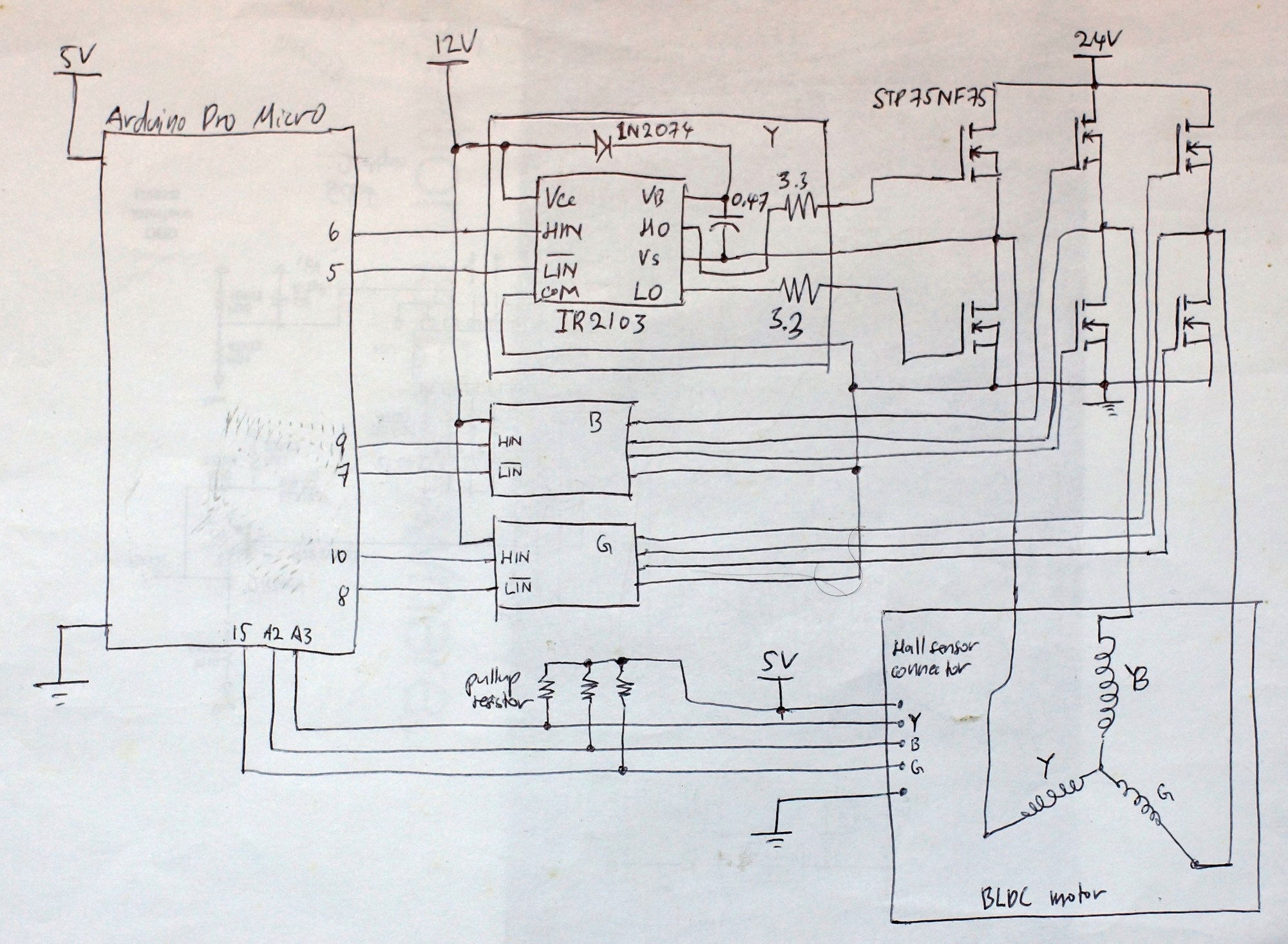 hight resolution of sensored bldc motor control with arduino aidilj worklog wiring lighted doorbell button wiring diagram 350w bldc