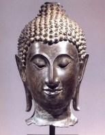 Tailândia (Sukhotai) - Cabeça de Buda (Bronze) - séc XIV