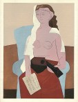 picasso femme assise