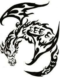 dragon-tribal-tattoo