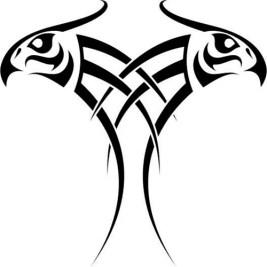eagle black tattoo tribal