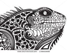 stock-vector-vector-illustration-of-a-totem-tattoo-animal-lizard-head-139600688