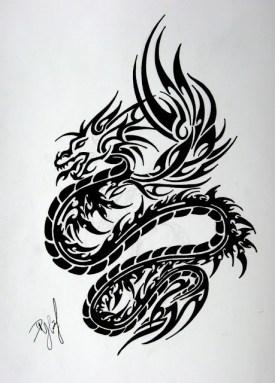 Tribal Dragon 007