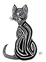 Tribal_Cat_Tattoo_Design_by_AerynOustinne