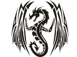 tribal_dragon_with_opened_wings_tattoo_design