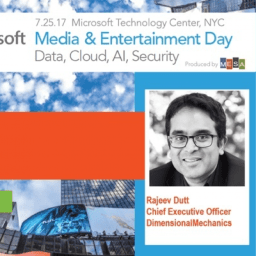 Rajeev Dutt headshot at Microsoft Media & Entertainment Day