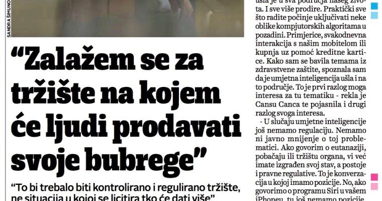 "Interview with ""Jutarnji Life"" in Zagreb"