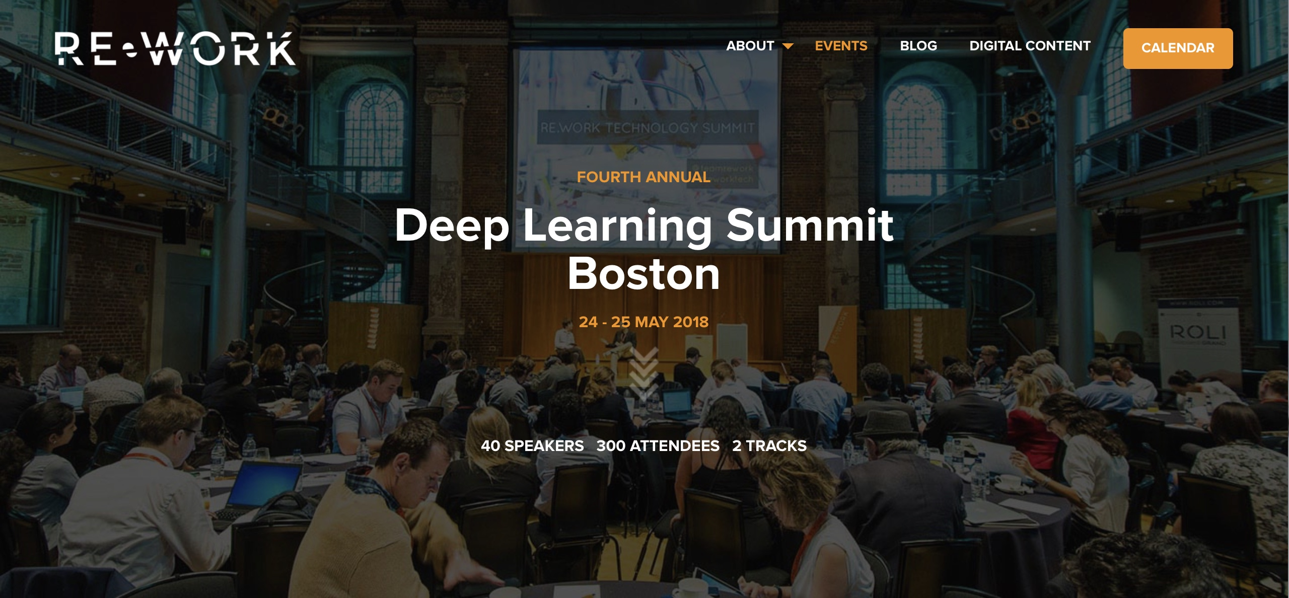 Boston, Re-Work Deep Learning Summit – 24-25.5.2018