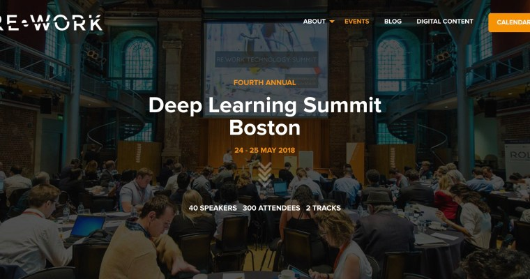 Re-Work Deep Learning Summit Boston – 24-25.5.2018