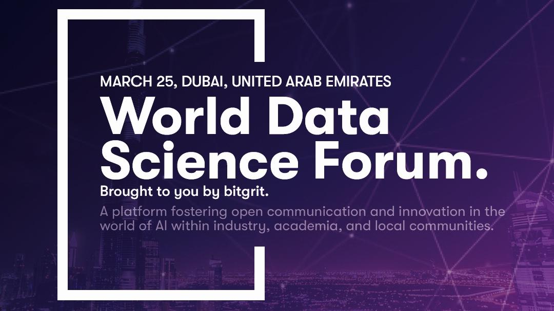 Dubai, World Data Science Forum – 24-25.3.2019