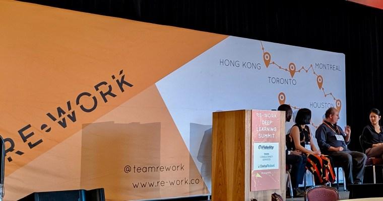 Boston, Re-Work Deep Learning Summit – 23-24.5.2019