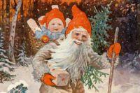 Швед суреттелген Рождестволық журналының 1904 жылғы мұқабасы