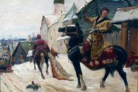 """ميخائيل أفيلوف - """"الحراس في نوفغورود"""". الثلث الأول من القرن العشرين."""