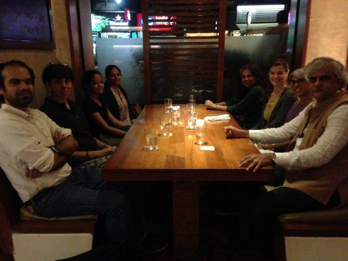 Team dinner at the Salt Water Cafe in Bandra