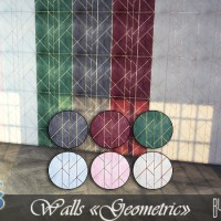 "Покрытие стен The Sims 4 ""Geometric""."
