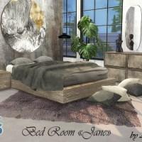 """Мебель и декор для гостиной The Sims 4 """"Jane""""."""