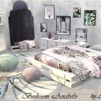 Мебель и декор для спальни The Sims 4 Anabel.
