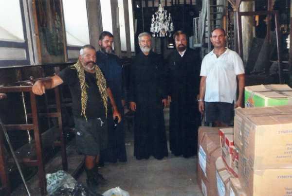Παράδοση Ανθρωπιστικής Βοήθειας  στην κωμόπολη Βρίσα Μυτιλήνης