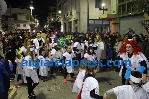 """Καρναβάλι Αίγιου 2018 """"Νυχτερινή ποδαράτη"""" (Βίντεο)"""