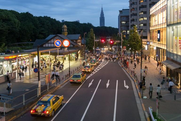 Estación Harajuku en Japón