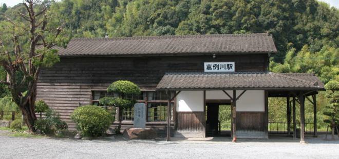 El gato vive en la vieja estación de Kareigawa, patrimonio nacional de Japón