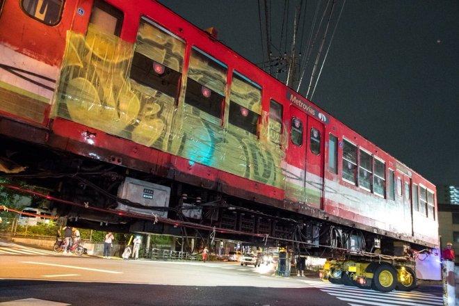 Las autoridades del Metro de Tokio parece que quieren conservar los grafitis que recibieron los vagones en la Argentina