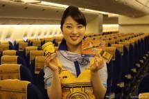 La azafata entregará un certificado a cada pasajero que viaje en este avión