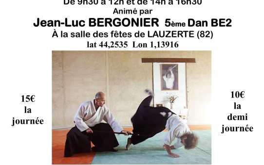 10 février Stage à Lauzerte avec Jean-Luc Bergonier 5ème dan