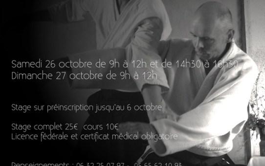 26 et 27 Octobre 2019 - Stage à Lapanouse de Cernon animé par Jean-Luc Bergonier 5ème dan