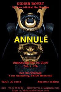 [:fr]Annulé - Stage - 18 octobre 2020 à Dojo des Guilands[:en]Canceled - Seminar - October 18th, 2020 - Dojo des Guilands[:] @ Dojo des Guilands