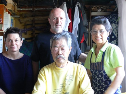 De gauche à droite : Agnès Disson, Didier Boyet, Mitsuzuka Takeshi, Mme Mitsuzuka