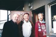 Visite chez Mitsuzuka Sensei avec Michel Prouvèze, 19 avril 2006