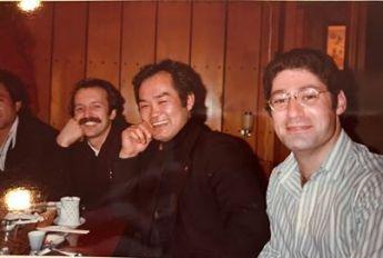 Hiver 1980, soirée sushi avec Chiba Sensei et divers élèves (ici, Jay Dunkelman)