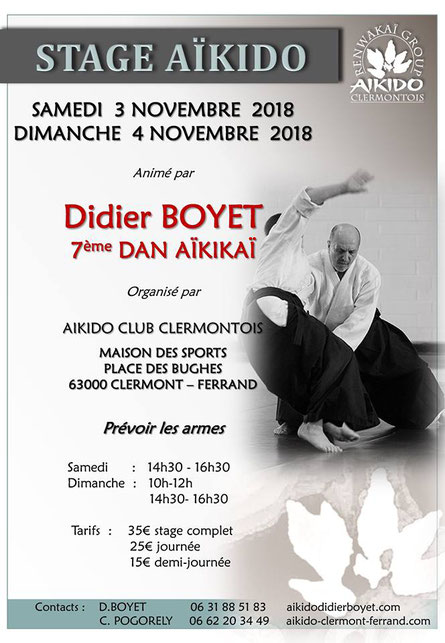 Stage Didier BOYET-France-Clermont-Nov_2018