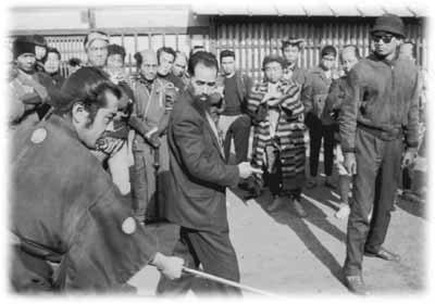 Sugino Sensei con Akira Kurosawa y Toshiro Mifune