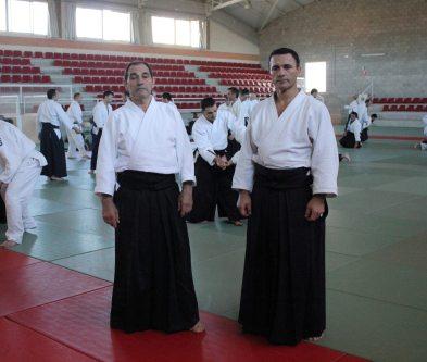 Curso Nacional de Aikido en Alicante, Tomás Sánchez y Roberto Sánchez, noviembre 2015 (los maestros)
