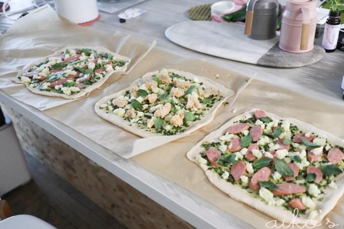 【西方料理】停課在家做披薩,105T麵包機披薩麵團比例~