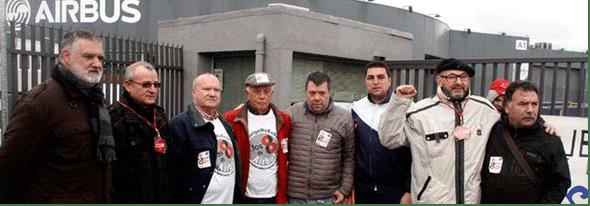 """""""Los 8 de Airbus"""" absueltos por un juez en España. Un triunfo del sindicalismo."""