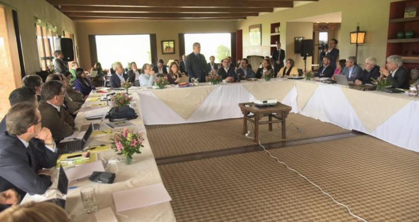 Reunión de los ministros de Duque